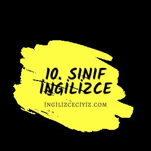 10. sınıf ingilizce 9. ünite