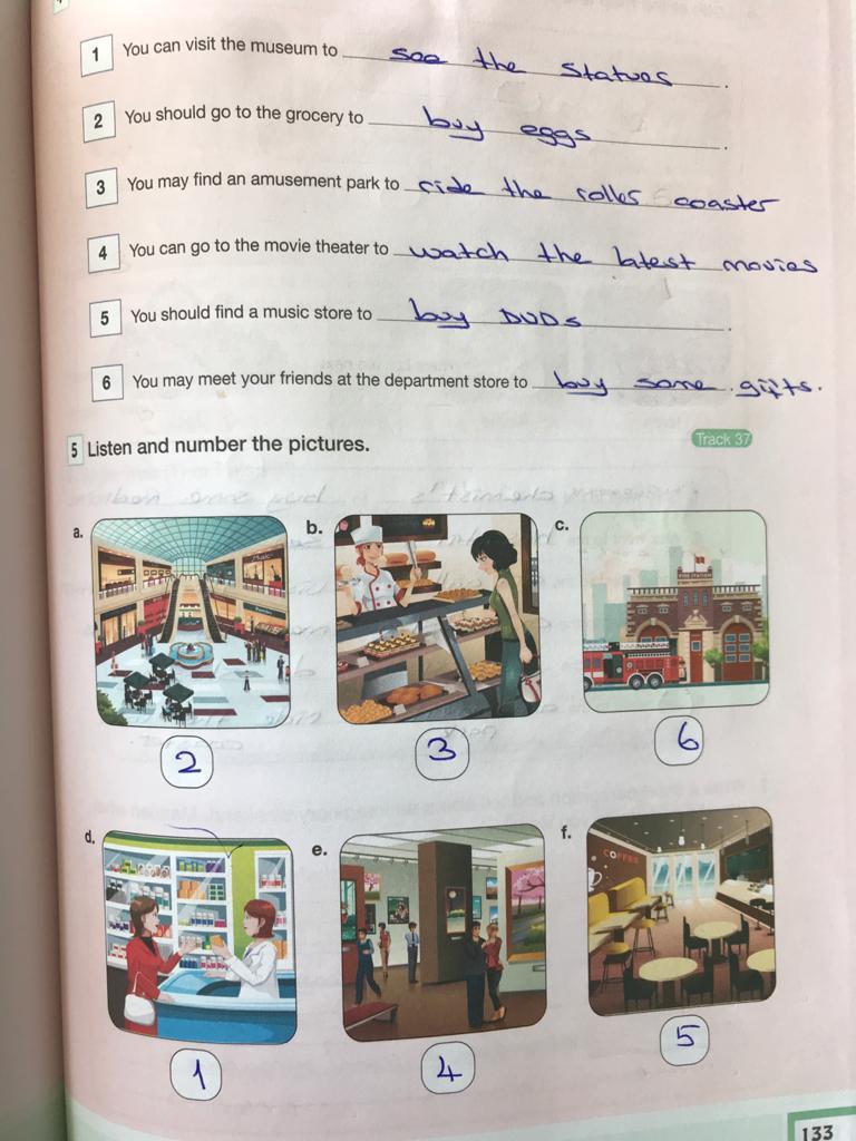 7. sınıf ingilizce bilim ve kültür yayınları cevapları sayfa 133