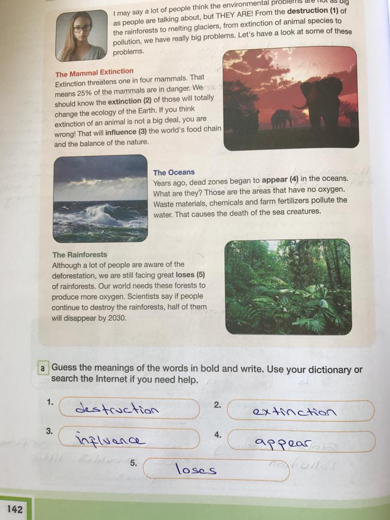 7. sınıf ingilizce bilim ve kültür yayınları cevapları sayfa 142