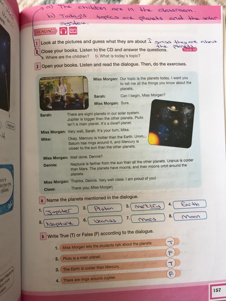 7. sınıf ingilizce bilim ve kültür yayınları cevapları sayfa 157