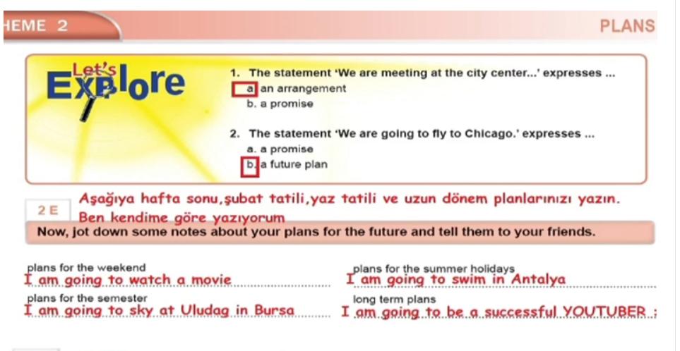 10.Sınıf İngilizce Ders Kitabı Cevapları MEB Yayınları Sayfa 26